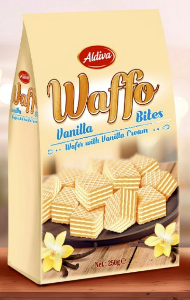 Waffo Bites Wafer With Vanilla Cream Filling