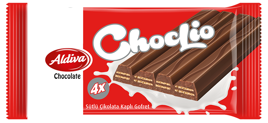 Choclio 4 Finger Milk Chocolate Coated & Chocolate Cream Filling Wafers 40g