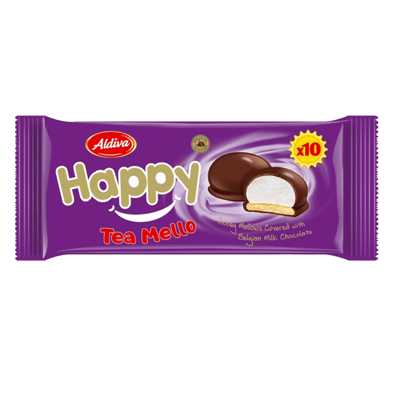 Happy Tea Mello Chocolate Covered Marshmallow Biscuits 12gr*10